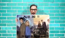 Doctor Who 50th anniversary 10th and 11th Doctor Art - Wall Art Print Poster   - Kids Children Bedroom Geekery